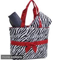 Rosen Blue Zebra Print 3-piece Diaper Bag Set