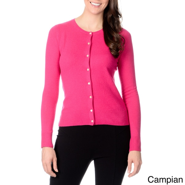 Ply Cashmere Women's Button-front Cashmere Sweater. Opens flyout.