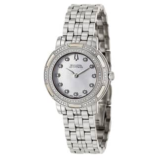 Bulova Accutron Women's 'Pemberton' Stainless Steel Swiss Quartz Watch|https://ak1.ostkcdn.com/images/products/8708186/Bulova-Accutron-Womens-Pemberton-Stainless-Steel-Swiss-Quartz-Watch-P15958088.jpg?impolicy=medium