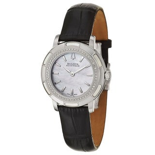 Bulova Accutron Women's 'Pemberton' Stainless Steel Swiss Quartz Watch