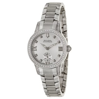 Bulova Accutron Women's 'Masella' Stainless Steel and Diamonds Swiss Quartz Watch