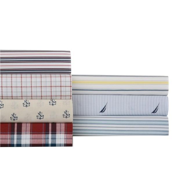 Nautica Cotton Blend Wrinkle-resistant Printed Sheet Set