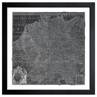 Oliver Gal 'Map of Germany 1720' Framed Print Art