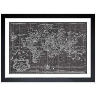 Oliver Gal 'World Map 1778' Framed Art Print (5 options available)