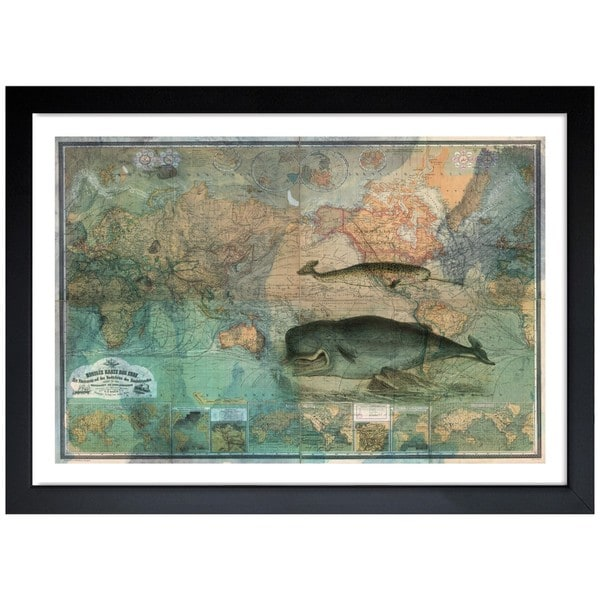Oliver Gal 'The World Map 1870' Framed Print Art