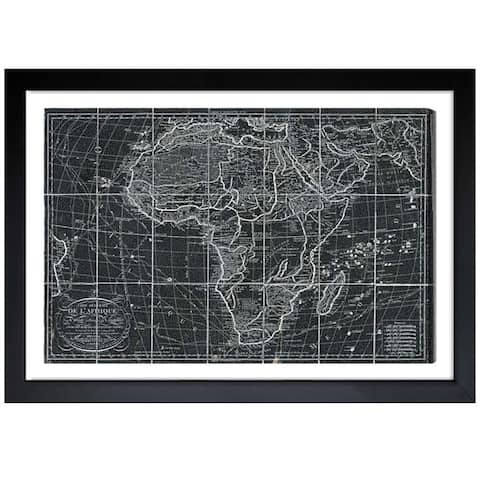 Oliver Gal 'Africa Map 1829' Framed Print Art