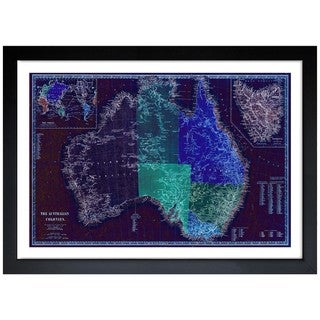 Oliver Gal 'The Australian Colonies' Framed Art Print