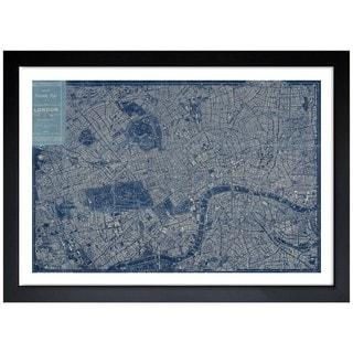 Oliver Gal 'London Map 1899' Framed Print Art