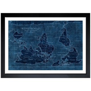 Oliver Gal 'Upside-Down Map of the World' Framed Art Print
