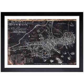 Oliver Gal 'Town of Boston Map 1722' Framed Art Print