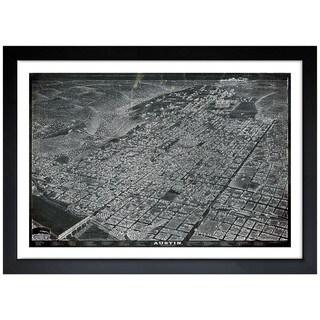 Oliver Gal 'Map of Austin in 1887' Framed Print Art