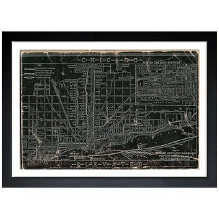 Oliver Gal 'Chicago Railroad' Framed Art Print