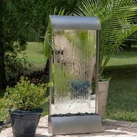 Waterloo Indoor Floor/ Wall Fountain - Stainless Steel