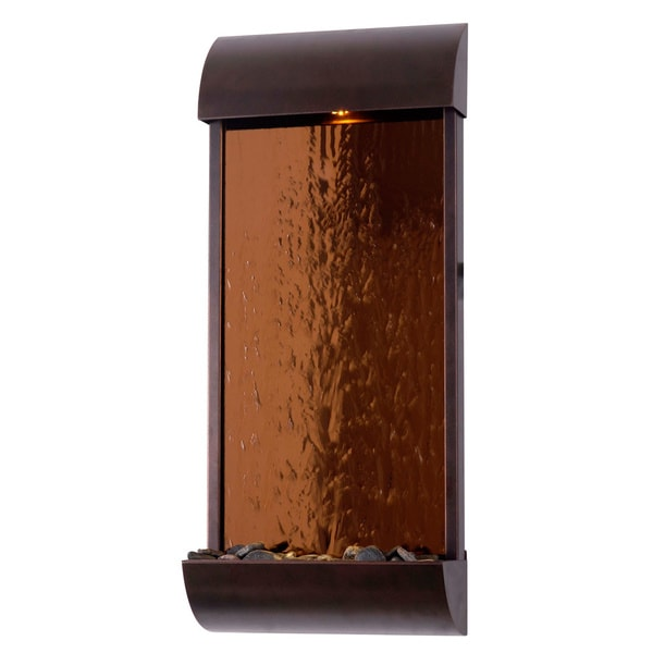 Shop Golden Metal Indoor Wall Fountain - Free Shipping Today ...