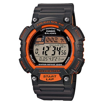 Casio Tough Solr Runr Watch Blk Gry, Men's, Grey, Size On...