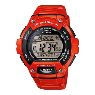 Casio W-S220C-4AV Red Runner Tough Solar Multi-Function Watch