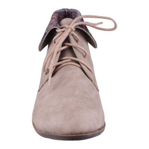 Women's Beston Korsa-01 Taupe Faux Leather - Thumbnail 2