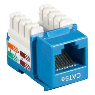 Black Box CAT5e Value Line Keystone Jack, Blue
