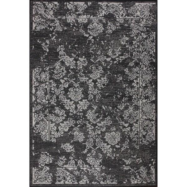 nuLOOM Indoor/ Outdoor Traditional Vintage Black Rug (9' x 12')