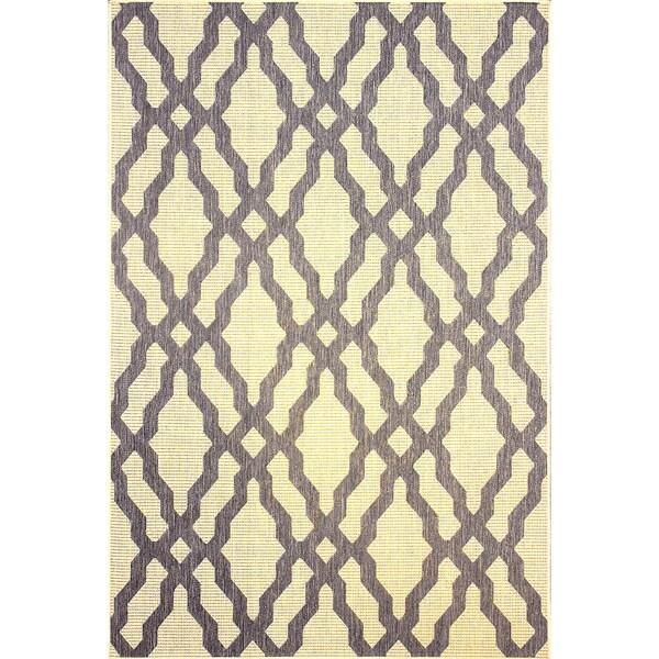 nuLOOM Modern Indoor/ Outdoor Lattice Trellis Grey Rug (9' x 12')