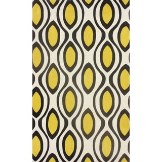 Meticulously Woven Circles Geometric Abstract Rug 5 2 X 7