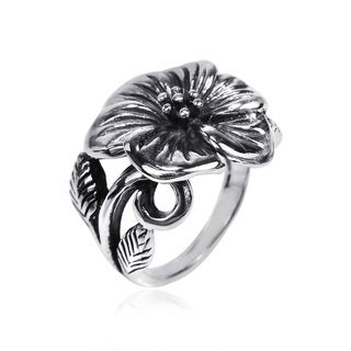 Exotic Flower Sterling Silver Floral Style Ring (Thailand)
