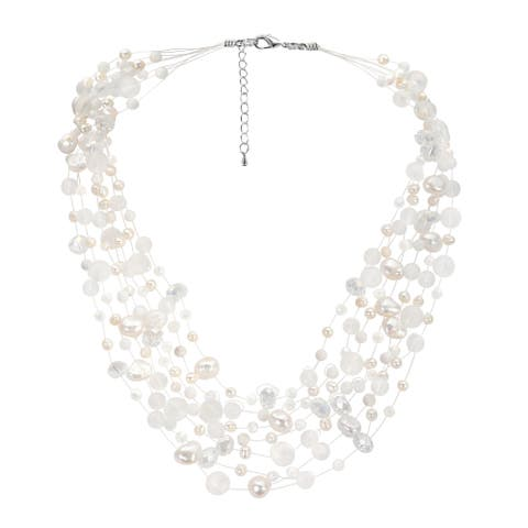 Handmade Classy Cascades of Freshwater Pearls Necklace (Thailand)