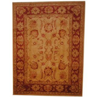 Herat Oriental Afghan Hand-knotted Vegetable Dye Wool Rug (7'2 x 9'6)