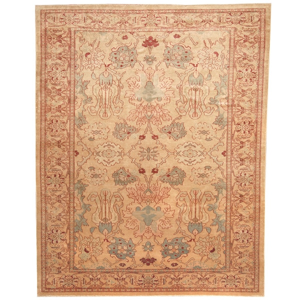 Shop Beige Wool Hand Knotted Oriental Persian Area Rug 6: Shop Herat Oriental Afghan Hand-knotted Vegetable Dye