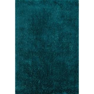 Hand-tufted Dream Blue Shag Rug (7'9 x 9'9)