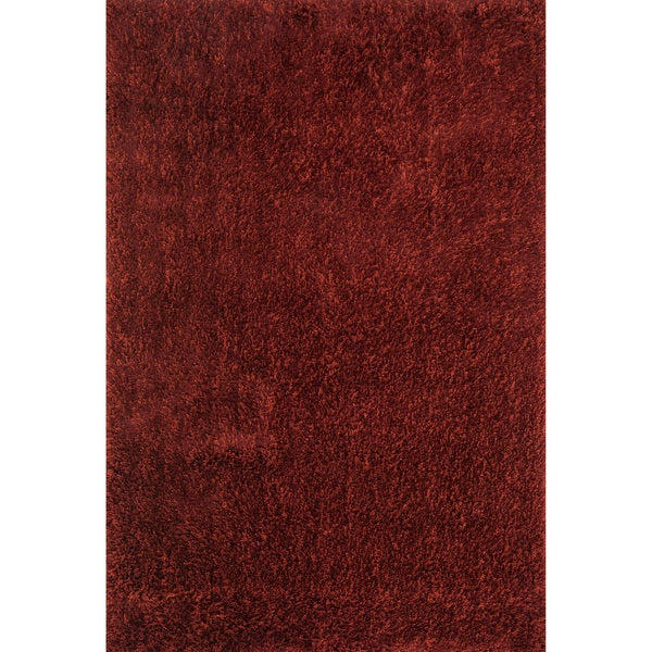 Hand-tufted Dream Red Shag Rug (7'9 x 9'9) - 7'9 x 9'9