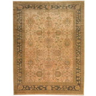 Herat Oriental Afghan Hand-knotted Vegetable Dye Beige/ Olive Wool Rug (8'3 x 10')