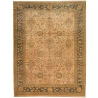Herat Oriental Afghan Hand-knotted Vegetable Dye Beige/ Olive Wool Rug (8'3 x 10') - 8'3 x 10'