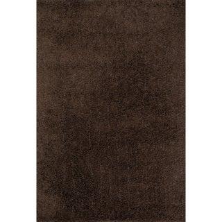 Hand-tufted Dream Mocha Shag Rug (5'0 x 7'6)