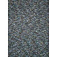 Handmade Estelle Blue/ Multi Wool/ Silk Rug - 5' x 7'6