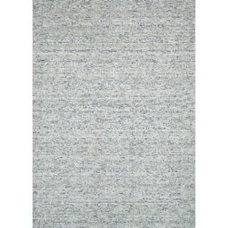 Handmade Estelle Green Wool/ Silk Rug (5'0 x 7'6)