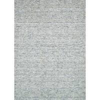 Handmade Estelle Green Wool/ Silk Rug (5'0 x 7'6) - 5' x 7'6