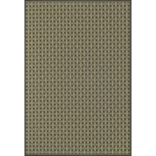 Biscayne Brown/ Beige Indoor Outdoor Rug (2'4 x 3'9)