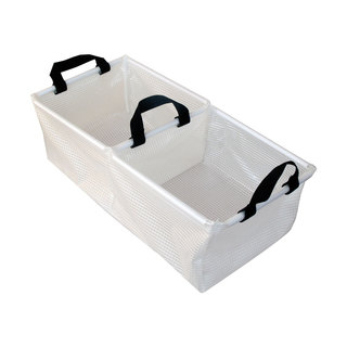 Double Sink Foldable Camping Wash Basin with Handles