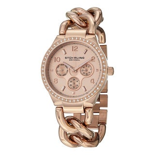 Stuhrling Original Women's Lady Renoir Swiss Quartz Stainless Steel Bracelet Watch