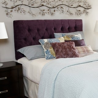 Humble + Haute Halifax Plum Diamond Tufted Full Upholstered Headboard