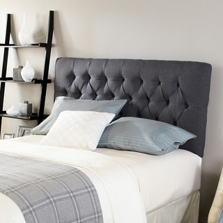 Humble + Haute Halifax Charcoal Diamond Tufted Full Upholstered Headboard