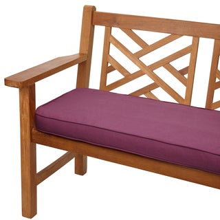 Purple Orchid 48-inch Corded Indoor/ Outdoor Bench Cushion with Sunbrella Fabric