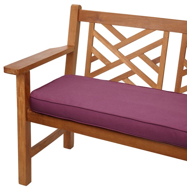 Purple Orchid 48-inch Corded Indoor/ Outdoor Bench Cushion with ...