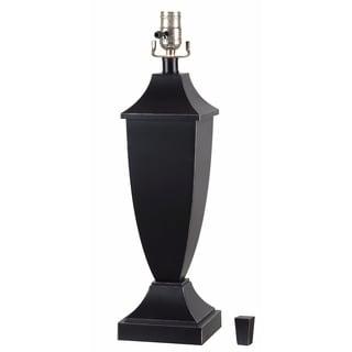Black Table Lamp Base: ,Lighting