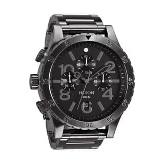Nixon Men's 48-20 Chrono All Gunmetal Chronograph Watch|https://ak1.ostkcdn.com/images/products/8712020/P15961319.jpg?impolicy=medium