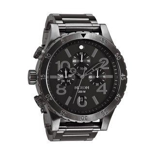 Nixon Men's 48-20 Chrono All Gunmetal Chronograph Watch