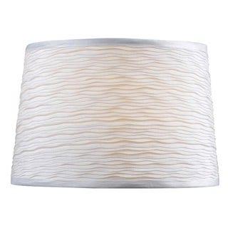 Design Match 15-inch White Tapered Drum Shade
