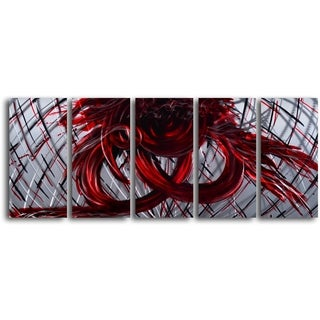 'Eternal Heart' Hancrafted 5-piece Metal Wall Art Set