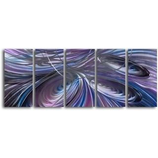 'Triple Cyclone' Handcrafted 5-piece Metal Wall Art Set